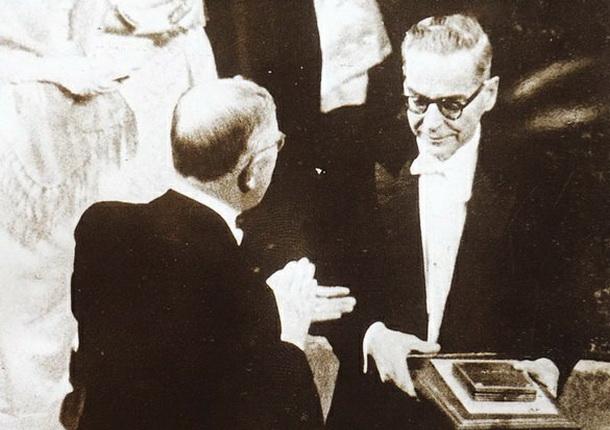 Ivo Andrić prima Nobelovu nagradu
