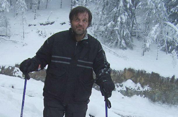 Emir Kusturica na skijanju