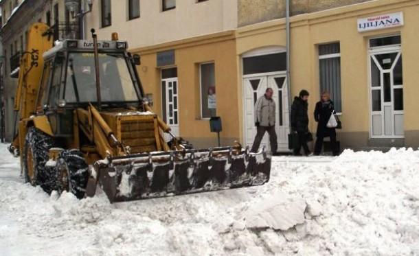 Čišćenje snijega u Višegradu