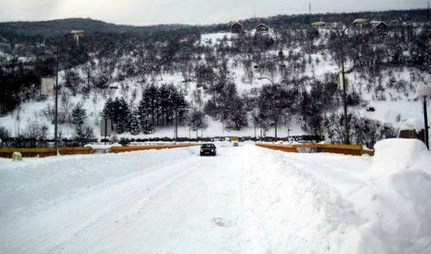 Foča - put pod snijegom