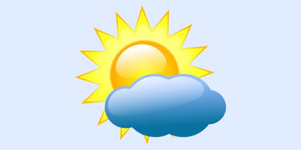 Vrijeme-sunce sa oblakom