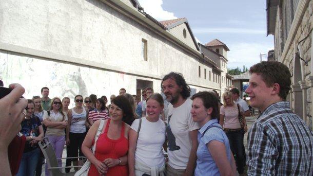 Emir Kusturica sa gostima iz Rusije