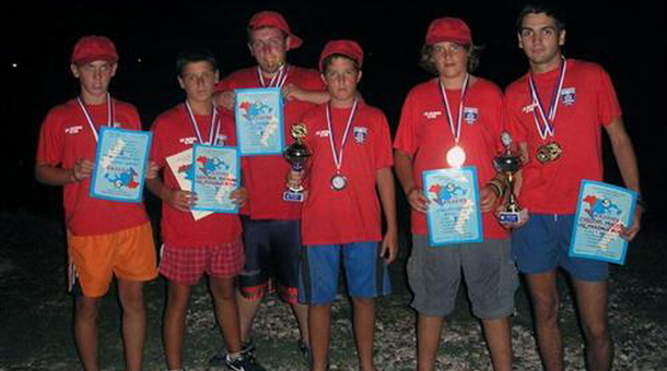Екипа кадета Спортско-риболовачког друштва Младица из Фоче