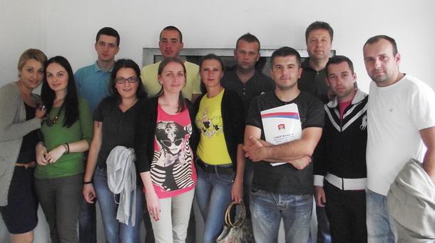 Budući novinari i tonci studija radio Novo Goražde