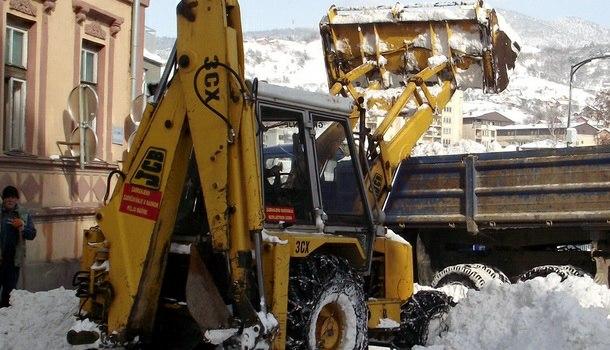Čišćenje snijega - Višegrad 2011