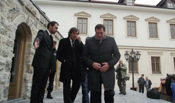 Dodik i Kusturica u Andrićgradu
