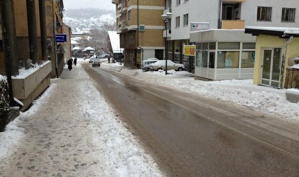 Višegrad - glavna ulica pod snijegom