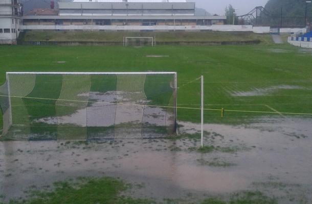 Potopljen stadion u Zvorniku