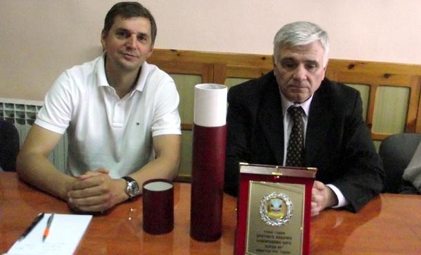 Dragoljub Vidačić kod načelnika