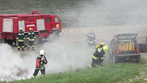 Vježba vatrogasaca u Foči
