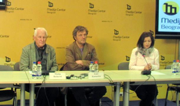 Matija Bećković i Emir Kusturica