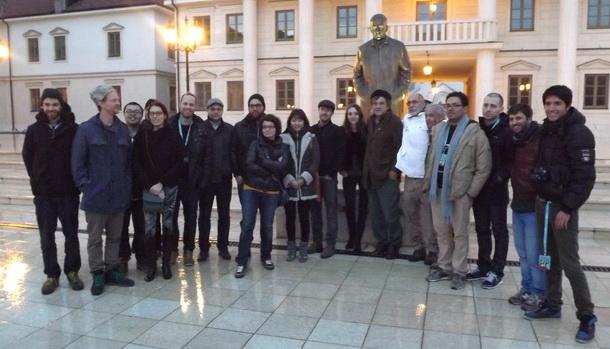 Arijaga i glumci u Andricgradu
