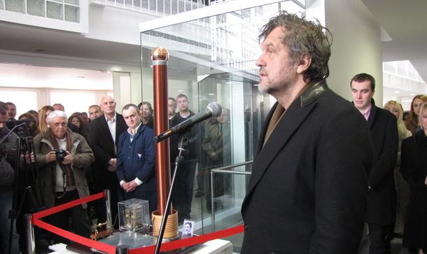 Emir Kusturica na HE na Drini nova zgrada