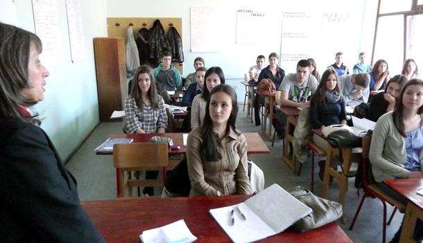 Gorana Kostadinov u srednjoj školi