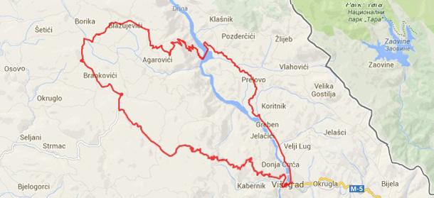 Biciklista preko Sjemeća na Stari Brod