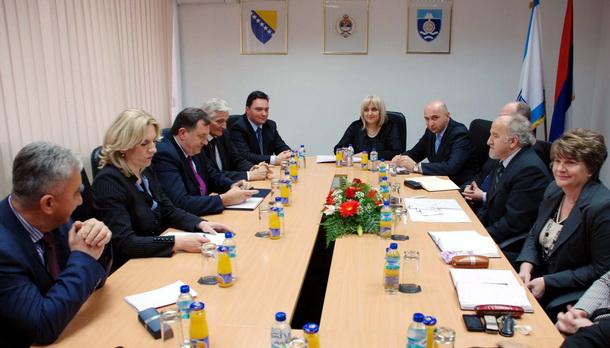 Milorad Dodik i Željka Cvijanović u Foči