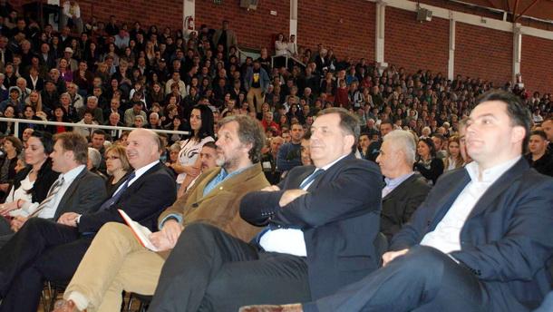 Kusturica i Dodik u Višegradu
