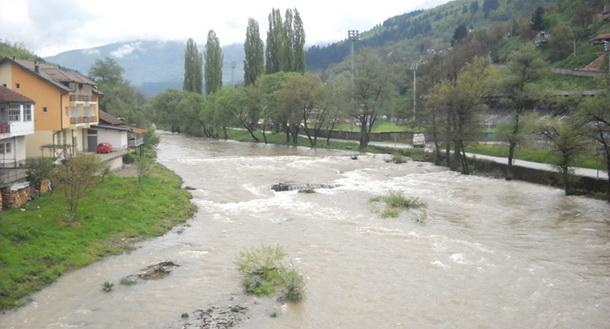 Foča - nabujala rijeka