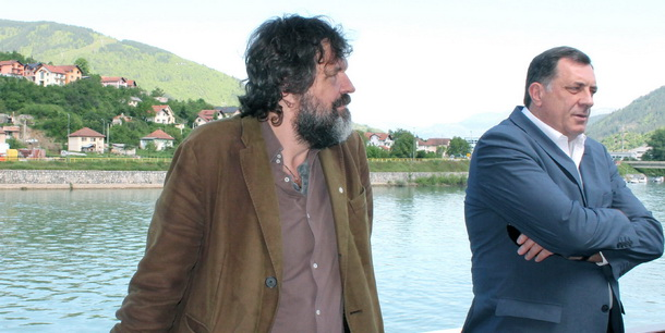 Kusturica i Dodik u Andrićgradu