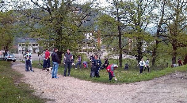 Omladinski pokret Foča čisti Miljevinu