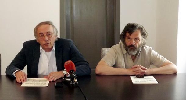 Perišić i Kusturica u institutu