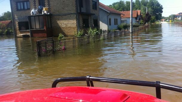 Spasioci iz Čajniča-poplava
