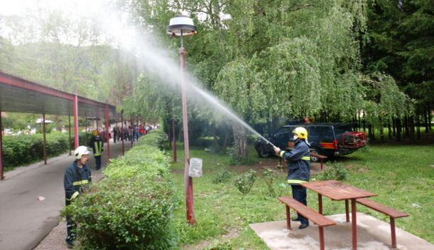 Vježba vatrogasaca u Rogatici