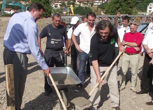 Predsjednik RS Milorad Dodik i Emir  Kusturica - temelji