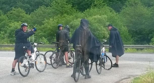 Biciklisti iz SA na Hilandar