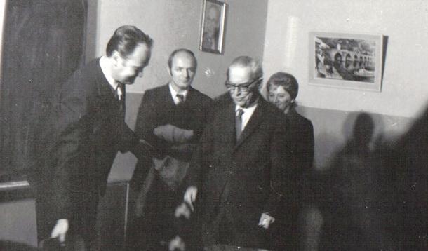 Boško Polić kod Iva Andrića