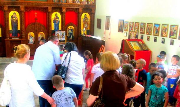 Djeca iz Čajniča u Andrićgradu