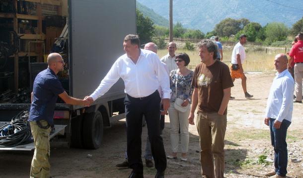 Dodik na snimanju Kusturicinog filma
