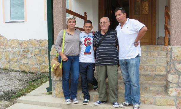 Bogdan Rosic sa porodicom