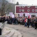 Protest protiv SIPE u Visegradu