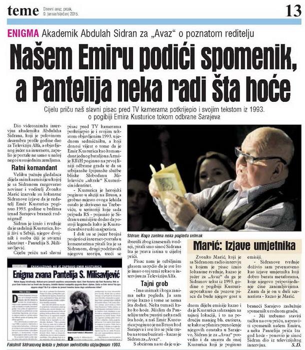 Foto: Dnevni avaz, 09.01.2015.