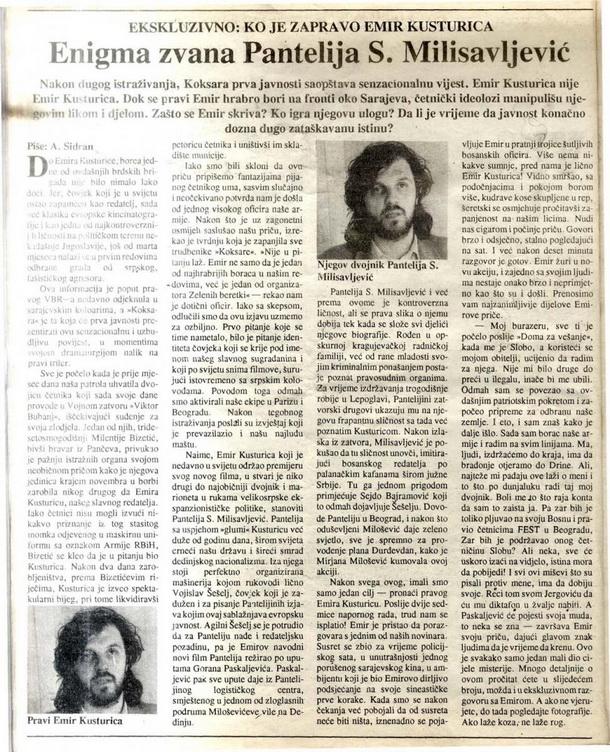 Foto: Ratni Dani, januar 1993.