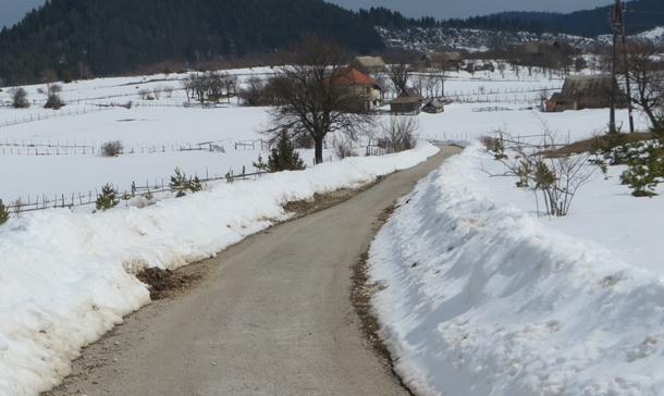 Snijeg na Sjeversku kod Borika