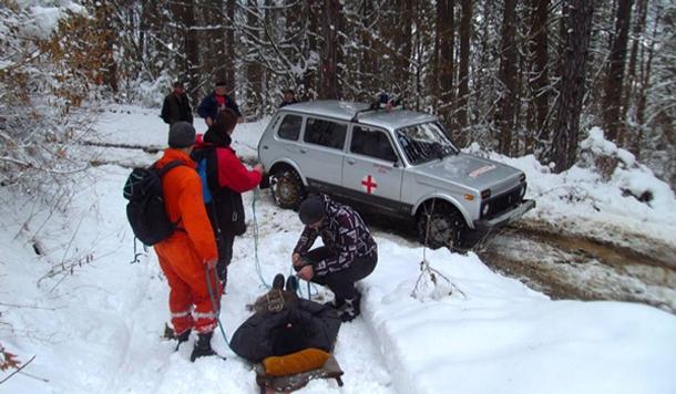Speleolozi u Foci snijeg