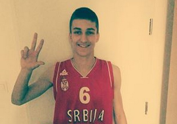 Milenko Frganja u dresu reprezentacije Srbije U 15