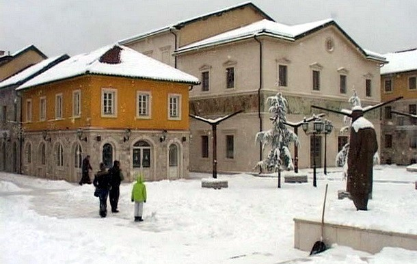 Andricgrad snijeg