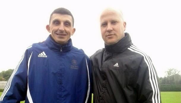 Obrenovic sa trenerom Partizana