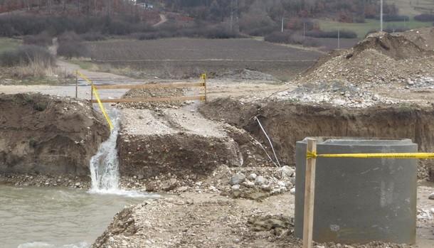 Most za Krmcice odnijela voda 2