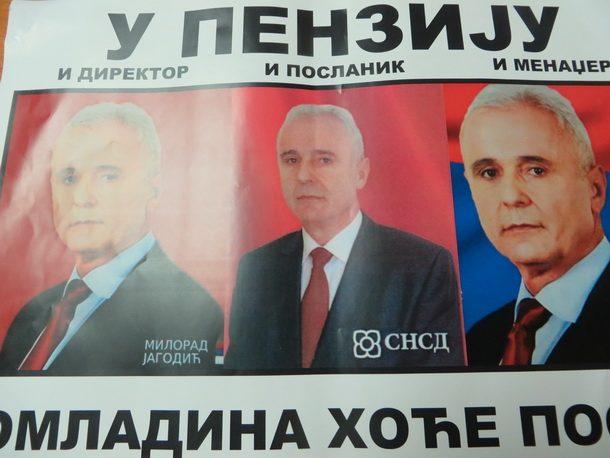 Rogatica-jedan od plakata protiv Milorada Jagodica 2