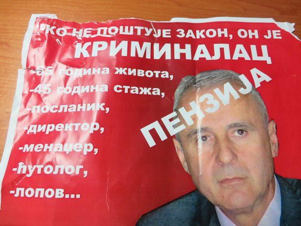 Rogatica-jedan od plakata protiv Milorada Jagodica